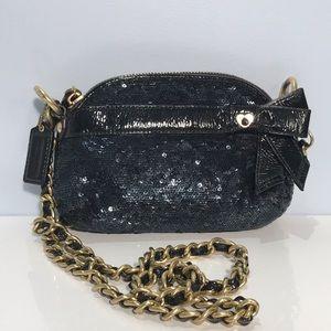 Coach Glitter Sequence Crossbody Handbag Black